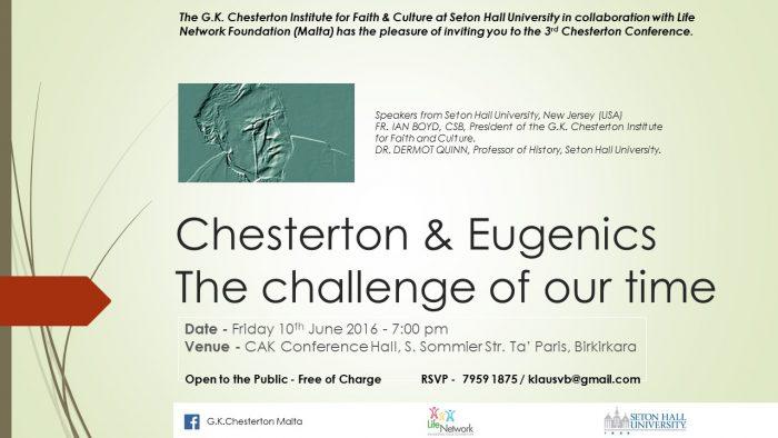 Chesterton Eugenics - Info
