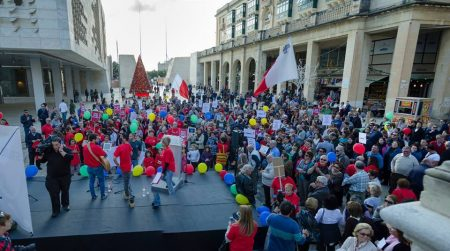 The first March for Life held in Valletta, December 2015